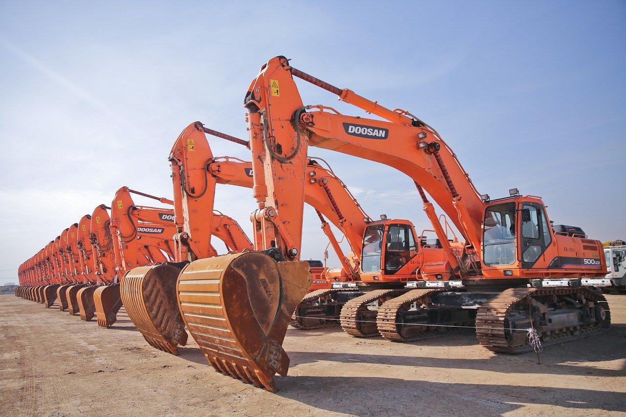 construction, excavator, civil