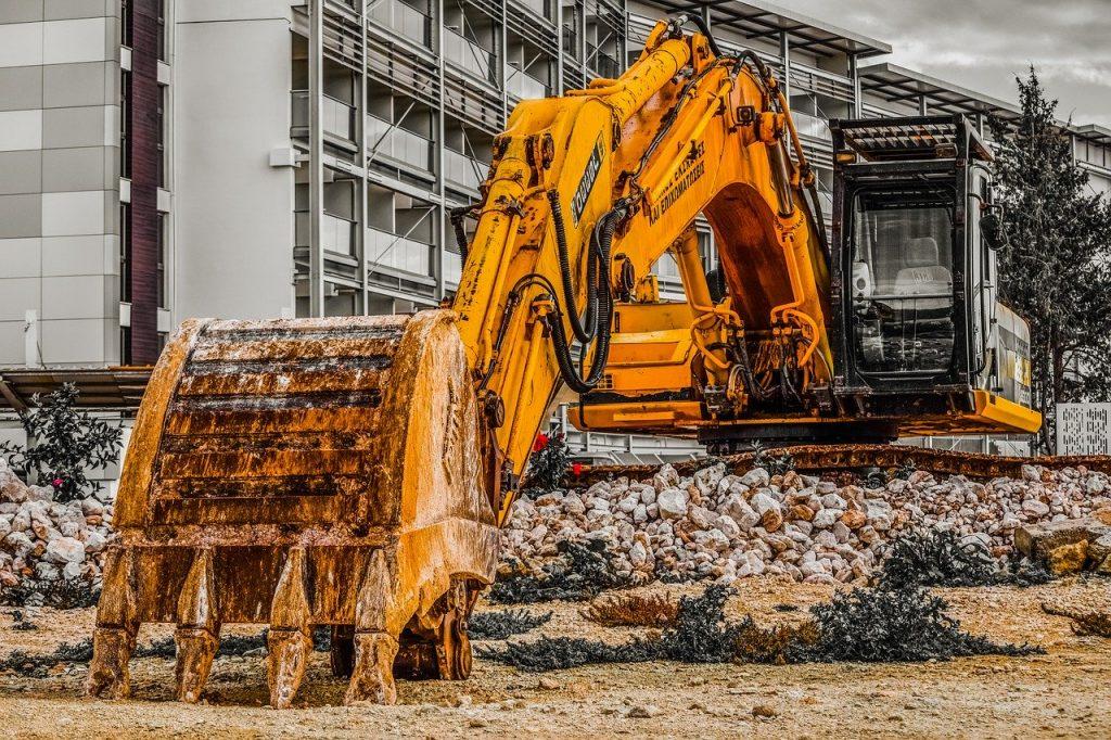 heavy machine, excavator, construction