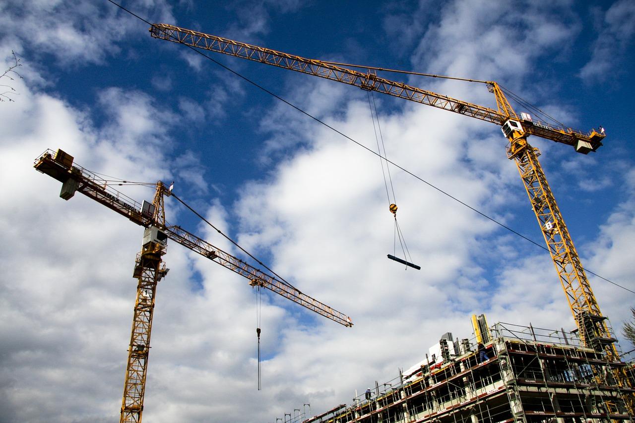 site, crane, construction machinery